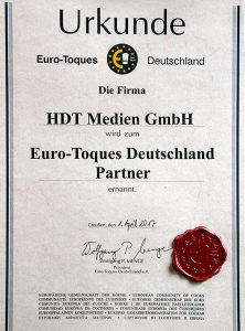 Eurotoques-Urkunde